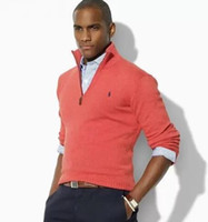 Wholesale Polo V Neck Sweaters - hot new Wholesale-new arrival cardigan v neck polo sweater, men cotton casual coat, fashion brand knitted sweater half zipper jumper