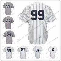 Wholesale green new york jersey - New York 99 Aaron Judge No Name Jersey 27 Giancarlo Stanton 2 Derek Jeter 24 Gary Sanchez Mickey Mantle Babe Ruth Baseball Jerseys