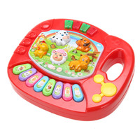 Wholesale animals musical toy piano online - Baby Animal Farm Piano Music Toy Kids Musical Educational Developmental Toys for Children Christmas Gift Color Random