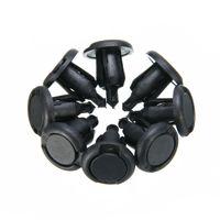 50Pcs Black Plastic Nylon Rivet Fastener Bumper Push Type Clips for Nissan