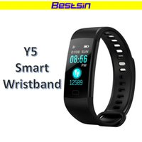 Wholesale iphone os - Bestsin Y5 Smart Wristband Bracelet Fitness Tracker Color Screen Heart Rate Sleep Pedometer Smart band For Iphone Android