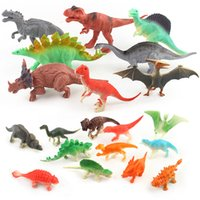 Wholesale Build Dinosaur - 8pcs Big size&12pcs Small size Dinosaur Minifig Building Blocks Puzzles Bricks Pterosaurs Stegosaurus Tyrannosaurus Triceratops Carnivorous
