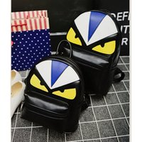 Wholesale cute small backpacks for women for sale - Group buy New Fashion Brand Designer Unique Little Monster Backpack Women Men Cute Bird Face Backpack School Bags for Women