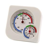 termómetro nuevo mini al por mayor-Interior al aire libre MIni húmedo higrómetro termómetro medidor de temperatura nueva llegada herramienta de casa inteligente