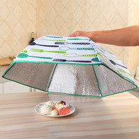 Wholesale wholesale aluminum tables - Foldable Food Insulated Cover New Round Umbrella Type Dustproof Covers With Aluminum Foil Practical Kitchen Table Accessories Hot 13ef YY