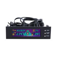 Wholesale Computer Fan Temperature - High Quality 5.25 inch PC Fan Speed Controller Temperature Display LCD Front Panel Speed Controller