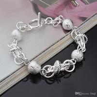 bracelet style rue achat en gros de-Haute qualité Chaude 925 chaîne en argent sterling bracelet belle rue style bijoux de mode cadeaux de Noël bas prix livraison gratuite