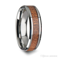 Wholesale Design Your Own Stainless Steel Ring Secret Resin Wood Ring