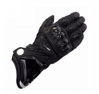 черные кожаные перчатки велосипеда оптовых-3 цвета GP Pro Leather Black от Moto Heaven Кожаные перчатки для мотоциклистов Шоссейный велосипед Гоночный трек