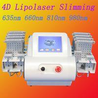 precios de la lipo laser al por mayor-Máquina láser lipo 650nm diodo láser 4 longitud de onda mejor precio rápido y efectivo lipo láser máquina para adelgazar