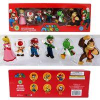 muñeca princesa durazno al por mayor-Donkey Kong Super Mario Bros Bowser Koopa Luigi Yoshi Mario Car sapo Peach princesa Odyssey PVC Figuras de Acción Juguetes Muñecas Modelo
