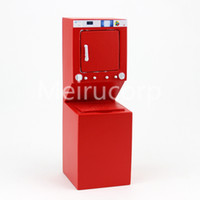 Wholesale cabinet wood - Dollhouse Life appliances 1 12 scale red washing machine and Dryer Integrated cabinet