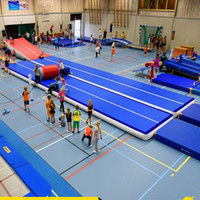 Free Shipping 12*2*0.2m Inflatable Cheap Gymnastics Mattress Gym Tumble Airtrack Floor Tumbling Air Track For Sale