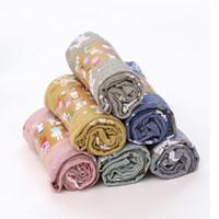 Wholesale purple neckerchief - New Hot Sale Fashion Soft Star Little Bear Pig Boys Girls Children linen Scarf Shawl Neckerchief Candy Color Cute Neck Ring
