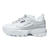 en yeni koşu ayakkabıları toptan satış-2018 Yeni Orijinal koşu ayakkabıları beyaz Siyah Kum gri Altın Fila II 2 Kadın erkek dosya bölüm Klasik Yürüyüş Koşu Rahat spor sneakers