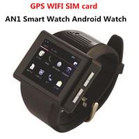 ingrosso sbloccare il singolo sim android-2018 An1 smart watch phone Android smartwatch mobile con touch screen 2MP fotocamera bluetooth WIFI GPS SIM singolo telefono sbloccato