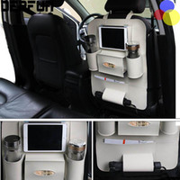 Wholesale function beverages resale online - Car Back Seat Organizer Multi function Beverage Storage Bag Stowing Tidying Tablet Phone Holder Container Interior Accessories