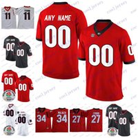 Wholesale rose numbers - Custom UGA Georgia Bulldogs College Football Any Name Number Personalized 11 Jake Fromm 27 Nick Chubb 10 Jacob Eason Rose Bowl Jerseys