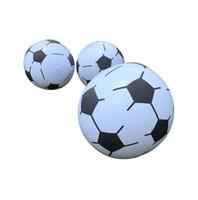 fútbol inflable al aire libre al por mayor-Pelota de playa inflable adultos niños globos de agua PVC al aire libre juego de patio decoraciones fiesta de fútbol OOA5446