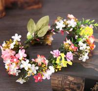Wholesale hair tiaras beach wedding resale online - The wedding accessories hair accessories beach wreath wreath