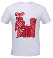 ingrosso nuove t-shirt stampate-2019 New Pure cotton T shirt a manica corta da uomo donna taglie forti shirt slim fit moda stampato t-shirt uomo plus taglia S -3XL