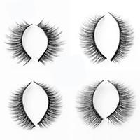 natürlich aussehende wimpern großhandel-Frauen Nerz 3D Haar Nude Look Wimpern Dame Simulation Dicke Schlanke Falsche Wimpern Natürliche Mode Schönheit Bilden Lieferungen 3al Ww