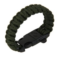 Wholesale paracord bracelets cord - Outdoor Camping Men Bracelet Rescue Paracord Parachute Cord Wristbands Emergency Rope Whistle Buckle Survival Kits