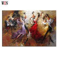 Wholesale Hands Music Art - WEEN Music Party Painting By Number DIY Hand Painted Christmas Arts For Home Decor Gift Cheap Poster Coloring By Numbers 2017