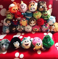 Wholesale children animal beanies - Ty Beanie Boos plush doll Big Eyes Animals Dolls Owl Penguin Monkey Plush Doll Stuffed Plush Animals toys for children gift KKA5627