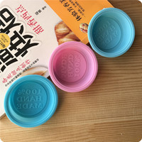 Wholesale round soap mold - Heat Resistant Baking Moulds 100% Hand Made Silica Gel Mold Non Toxic Resuable Round Soap Cake Jelly Silicone Mould For Home 1be B