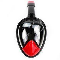 gopro mergulho venda por atacado-Máscara de Mergulho subaquática Snorkel Conjunto de Treinamento de Natação Mergulho scuba mergulho rosto cheio snorkel máscara Anti Fog Gopro Camera Dropshipping