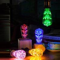led ışıklar ampuller toptan satış-Gökyüzü yıldız Edison LED retro ampul ST64 meme renk lamba LED dekoratif lamba üreticisi toptan