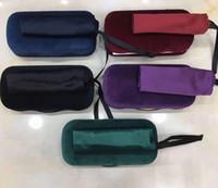 samtreiniger großhandel-Case Hard Shell Samt Sonnenbrillen Brillen Schwarzes Samtetui + Reinigungsklammern