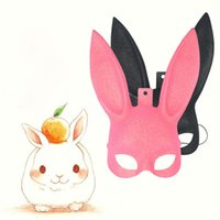 Wholesale sexy bunny halloween costume - Rabbit Masquerade Mask Sexy Bunny Long Ears Carnival Halloween Costume Party Masks Wholesale