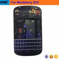 ingrosso coppa batteria mora-Coperchio della batteria Coperchio della tastiera Custodia centrale Parti di riparazione per Blackberry Q10