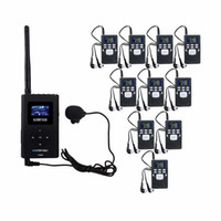 Wholesale wireless tour guide - NIORFNIO 1 FM Transmitter+10 FM Radio Receiver Wireless Tour Guide System for Guiding Church Meeting Translation System Y4305A