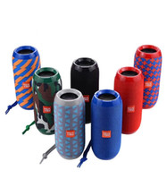 Wholesale radio horn speakers - TG117 Bluetooth Portable Speaker Double Horn 1200mAh Outdoor Waterproof Subwoofers Wireless Speakers Support TF Card FM Radio 10pcs lot