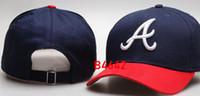 braves snapback großhandel-Neue Marke Cap Hip Hop Braves Hut Strapback Männer Frauen Baseball Caps Snapback Solid Baumwolle Knochen europäischen amerikanischen Mode Hüte