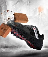 Wholesale anti puncture - Modyf Mens Steel Toe Cap work Safety shoe genuine leather casual Anti-kick footwear Outdoor puncture proof boot M160118