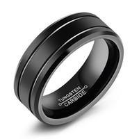 homens usando anéis venda por atacado-Anel dos homens clássicos simples anel de menino de aço de tungstênio anel dos homens para uso casual todos os dias