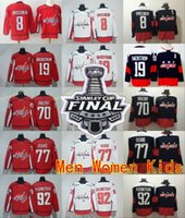 Wholesale Cotton Waterproofing - 2018 Stanley Cup Finals Washington Capitals 8 Alex Ovechkin 19 Nicklas Backstrom Jerseys 77 TJ Oshie 92 Evgeny Kuznetsov 70 Braden Holtby