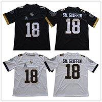 Wholesale game worn jersey - UCF Knights Hot Sale 18 Shaquem Griffin SM.Griffin Dark Gray White Black Stitched NCAA College Game Worn Jerseys S-3XL