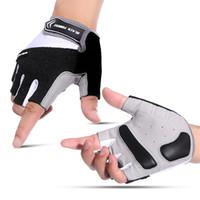 fingerlose golfhandschuhe frauen großhandel-Ganzer Verkauf M L XL Outdoor Sports Fingerlose Handschuhe Radfahren Reiten Laufen Breathable Halbe Fingerhandschuhe Anti-Rutsch-Männer Frauen Unisex Handschuhe