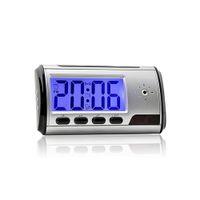 mouvement vidéo achat en gros de-Livraison gratuite en gros numérique réveil caméra vidéo enregistreur DVR caméscope avec télécommande de détection de mouvement 640 * 480
