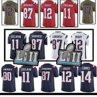 Wholesale patriots jersey xxl - 2018 Patriots men jersey 12 Tom Brady 11 Julian Edelman 87 Rob Gronkowski 14 Brandin Cooks 92 James Harrison