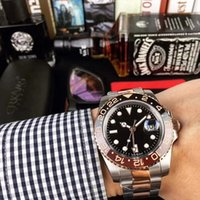 ingrosso uomini anello zaffiro nero-Orologio da uomo Hot AAA Luxury Greenwich II M126711CHNR-0002 Vetro zaffiro Nero Rosso Anello in ceramica Superficie nera Acciaio inossidabile Automatico.