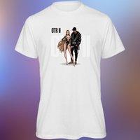 arte musical al por mayor-Camiseta de hombre OTR 2 Beyonce Jay Z Music Artwork Tour 2018 blanca de corte suelto
