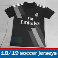 Wholesale Wholesale Real Madrid - 2018 Real Madrid soccer Jersey 18 19 RONALDO away Black Red Maillot de foot JAMES BALE RAMOS ISCO football shirts