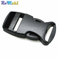 5mm Hole/'s DIA Straight Flat Side Release Plastic Buckles Black