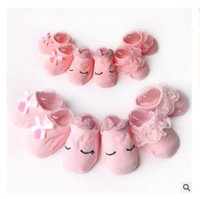 toddler ankle socks 2018 - Cute Baby Socks Toddlers Girls Combed Cotton Ankle Short Lace Bowknots Socks Anti-skid Newborn Princess Sock DHL Free Shipping